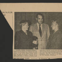 "1953-11-23 Burlington Hawkeye Gazette Photograph: ""United Negro College Forum"""