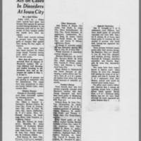 "1971-05-27 Des Moines Register Article: """"Act on Cases In Disorders At Iowa City"""""