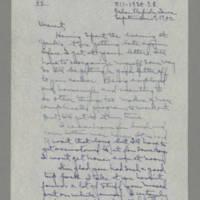 1942-09-09 Laura Davis to Lloyd Davis Page 1