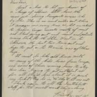 1945-07-16 Lt. William Walker to Dave Elder