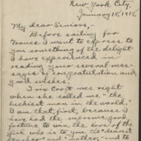 1918-01-18 Letter from Conger Reynolds Page 1