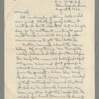 1942-08-08 Laura Davis to Lloyd Davis Page 1