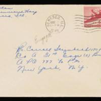 1945-12-02 Evelyn Burton to Carroll Steinbeck - Envelope