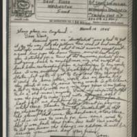 1945-03-14 Pvt. Sam C. Simmering to Dave Elder