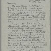 1943-03-08 Laura Davis to Lloyd Davis Page 1