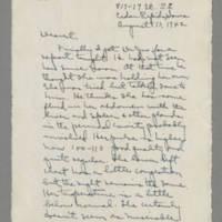 1942-08-13 Laura Davis to Lloyd Davis Page 1