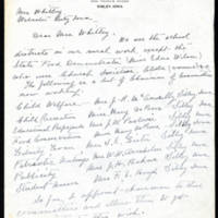 Lillian L. Shulte to Mrs. Whitley Page 1