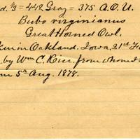 Clinton Mellen Jones, egg card # 877