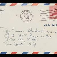 1945-12-20 Evelyn Burton to Carroll Steinbeck - Envelope