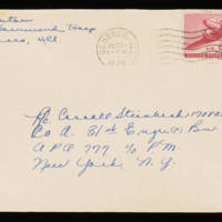 1945-10-23 Evelyn Burton to Carroll Steinbeck - Envelope