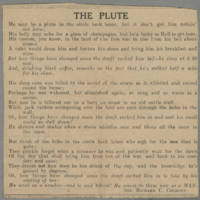 "Clipping: """"The Plute"""" Page 1"