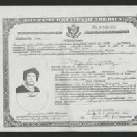 1962-12-03 Certificate of Naturalization for Mary Terronez