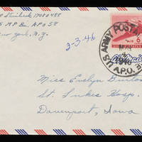 1946-03-03 Carroll Steinbeck to Evelyn Burton - Envelope