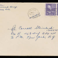 1945-09-22 Evelyn Burton to Carroll Steinbeck - Envelope