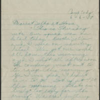 Thomas W. Messenger correspondence, June-December 1918