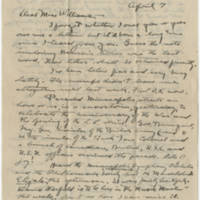 Robert Morriss Browning correspondence  to Mabel C. Williams, April-June 1918