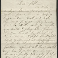 1863-04-12 Charles A. Gates to Mr. Arad Gates Page 1