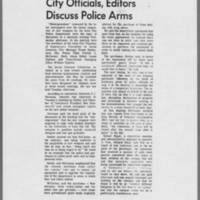 "1970-08-27 Daily Iowan Article: """"City Officials, Editors Discuss Police Arms"""""