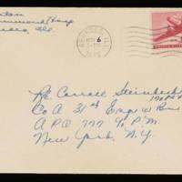 1945-11-05 Evelyn Burton to Carroll Steinbeck - Envelope