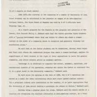 1970-04-10 Memo: University of Iowa Reports on Black Center Page 1