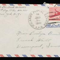 1945-12-27 Carroll Steinbeck to Evelyn Burton - Envelope