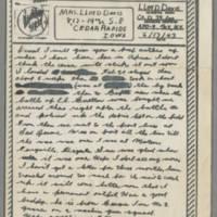 1943-06-17 Lloyd Davis to Laura Davis Page 1