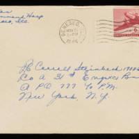 1945-11-18 Evelyn Burton to Carroll Steinbeck - Envelope