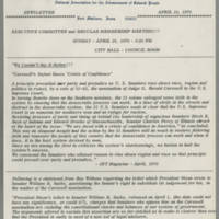 1970-04-16 Newsletter, Fort Madison Branch of the NAACP Page 1