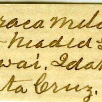 Clinton Mellen Jones, egg card # 699