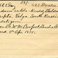 Clinton Mellen Jones, egg card # 839