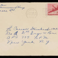 1945-10-31 Evelyn Burton to Carroll Steinbeck - Envelope