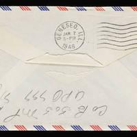 1945-11-25 Carroll Steinbeck to Evelyn Burton - Envelope back