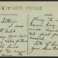 1919-02-13 - Postcard back