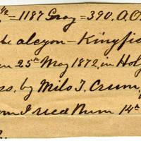 Clinton Mellen Jones, egg card # 735
