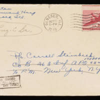 1945-10-13 Evelyn Burton to Carroll Steinbeck - Envelope