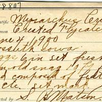 Samuel B. Matson, egg card # 016