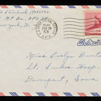 1946-02-27 Carroll Steinbeck to Evelyn Burton - Envelope