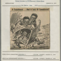 1970-03-12 Newsletter, Fort Madison Branch of the NAACP Page 1