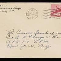 1945-11-10 Evelyn Burton to Carroll Steinbeck - Envelope