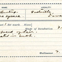 F Roberts, egg card # fr001u
