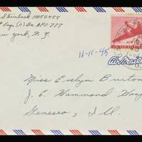 1945-11-11 Carroll Steinbeck to Evelyn Burton - Envelope