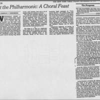 "1978-11-24 """" At the Philharmonic: A Choral Feast"""""