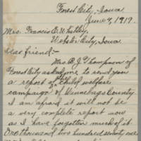1919-06-04 Mrs. O.E. Gunderson to Mrs. Francis E. Whitley Page 1