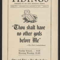 "1951-09-15 Newsletter: ""Tidings"" Page 1"
