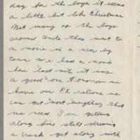 1943-11-25 Lloyd Davis to Laura Davis Page 2