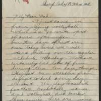 1918-03-21 Thomas Messenger to Vera Wade Page 1