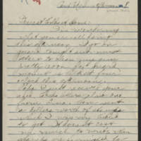 1918-03-17 Thomas Messenger to Mr. & Mrs. N.H. Messenger Page 1