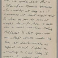 1943-10-30 Lloyd Davis to Laura Davis Page 1