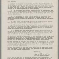 Correspondence from Art A. Drebenstedt