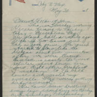 1918-05-30 Thomas Messenger to Mr. & Mrs. N.H. Messenger Page 1